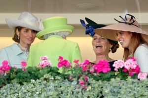 The Queen and Sarah Ferguson laugh and joke together at Royal Ascot: see the pictures