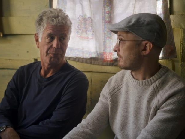 Anthony Bourdain looking at the camera: anthony bourdain parts unknown cnn