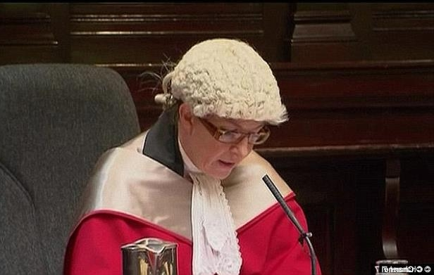 a person wearing a hat: Justice Lucy McCallum (pictured) said knowledge of consent translated to Gao and Wang would be critically assessed at trial