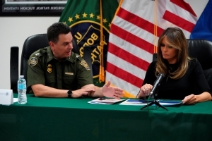 Melania Trump weighs migrant visits with husband's policy