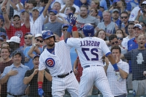 Russell hits slam, Cubs power back for 10-6 win over Twins