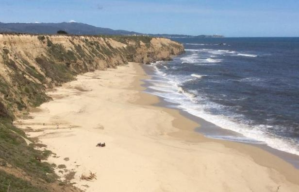 a sandy beach next to the ocean: A 47-year-old woman on Sunday drowned while trying to save three children swept away off a beach in California.