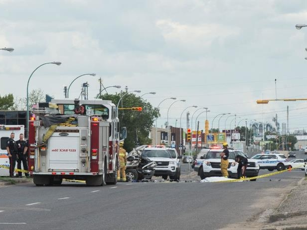 063018-collision0630181: Police say a man is dead following a collision between a truck and a motorcycle in Regina on the Canada Day long weekend.