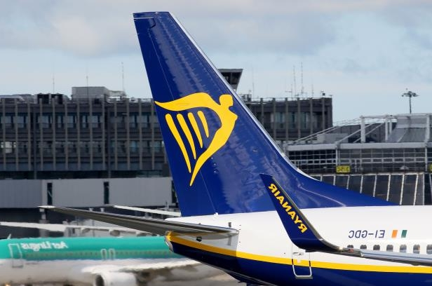 A Ryanair plane is parked on the tarmac at Dublin Airport on September 21, 2017. Ryanair chief executive Michael O'Leary on September 21, 2017, said he could not rule out axing more flights, but added any additional cancellations would not be linked to ongoing pilot roster problems. / AFP PHOTO / Paul FAITH (Photo credit should read PAUL FAITH/AFP/Getty Images)