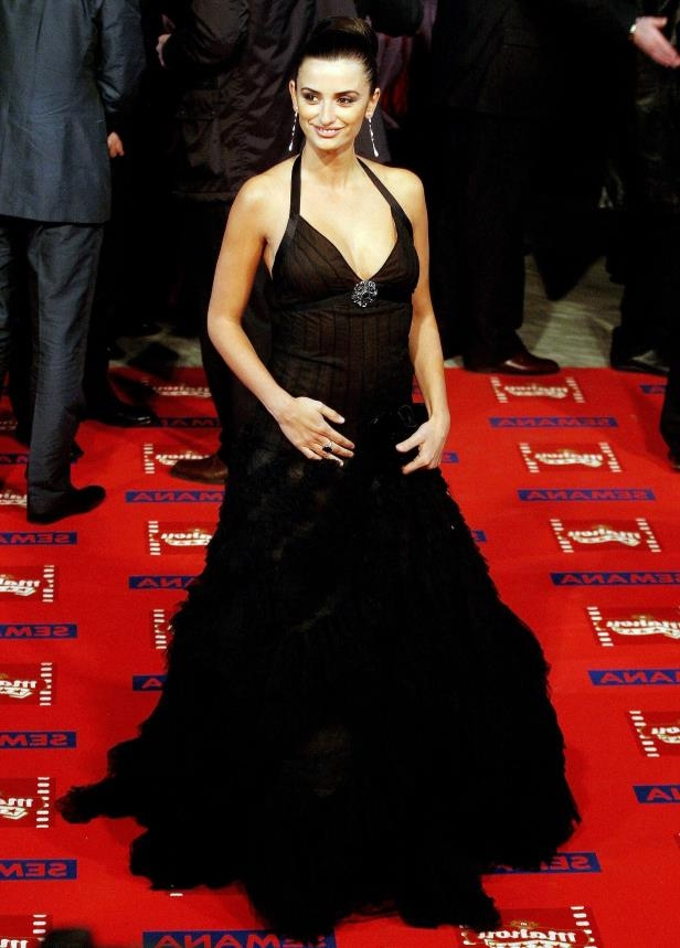 Slide 37 of 46: Spanish actress Penelope Cruz poses for photographers after her arrival for the Spanish Film Academy