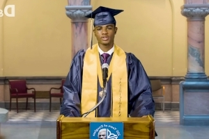 Principal forbids first black valedictorian from giving speech so City Hall steps in