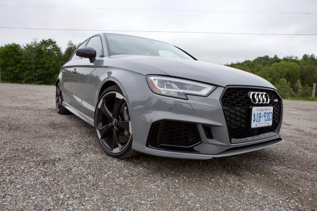 a car parked in a parking lot: 2018 Audi RS3