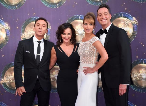 LONDON, ENGLAND - AUGUST 28:  Craig Revel Horwood, Darcey Bussell, Shirley Ballas and Bruno Tonioli attend the 'Strictly Come Dancing 2017' red carpet launch at Broadcasting House on August 28, 2017 in London, England.  (Photo by Karwai Tang/WireImage)