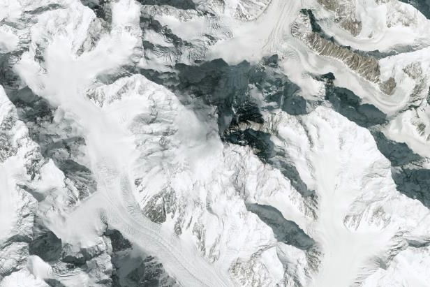 A DigitalGlobe overview image of the K2 Mountain in Northern Pakistan. It is the second highest mountain in the world, after Mount Everest, at 8,611 metres (28,251 ft) above sea level. (Picture for representation purpose only)
