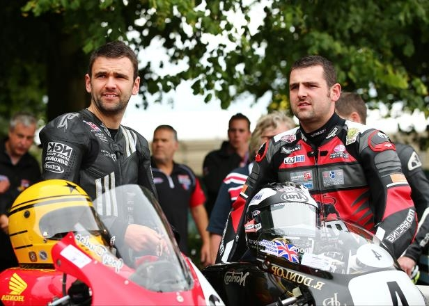 British Super Bike Riders Michael and William Dunlop