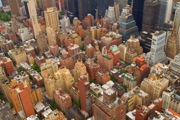 Aerial views of New York City, USA