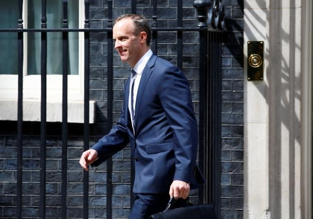 Britain's newly appointed Secretary of State for Exiting the European Union Dominic Raab leaves 10 Downing Street in Westminster, London, Britain, July 9, 2018. REUTERS/Henry Nicholls