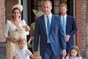 Prince Louis christened as Royal Family arrives at chapel without Queen or Duke of Edinburgh