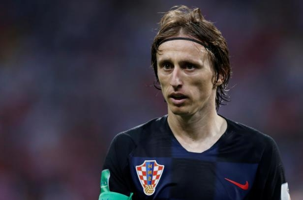 Russia vs Croatia: Croatia's Luka Modric looks on during the match