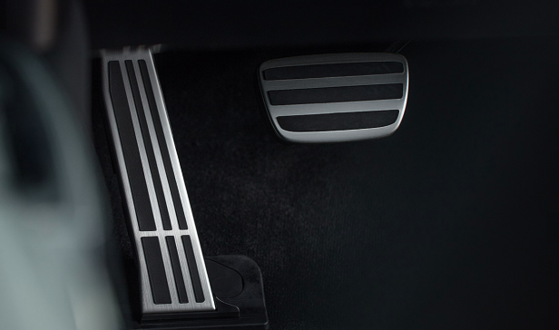 F Sport trim comes with aluminum pedals.