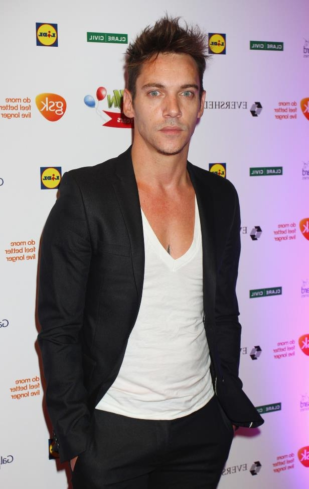 Jonathan Rhys Meyers posing for the camera: Jonathan Rhys Meyers attends the Barretstown 20th Anniversary Gala Ball at Convention Centre in Dublin, Ireland, on Sept. 27.