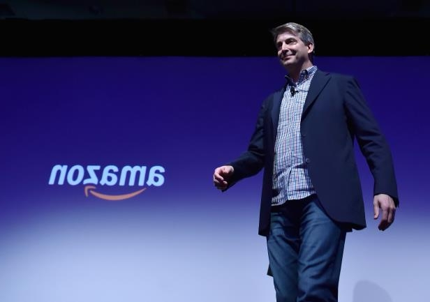 LAS VEGAS, NV - JANUARY 08:  Amazon Alexa Senior Vice President Tom Taylor walks on stage during a Panasonic press event for CES 2018 at the Mandalay Bay Convention Center on January 8, 2018 in Las Vegas, Nevada. CES, the world's largest annual consumer technology trade show, runs from January 9-12 and features about 3,900 exhibitors showing off their latest products and services to more than 170,000 attendees.  (Photo by David Becker/Getty Images)
