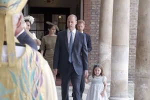 Prince George and Princess Charlotte Attend Prince Louis' Christening In the Cutest Way Ever