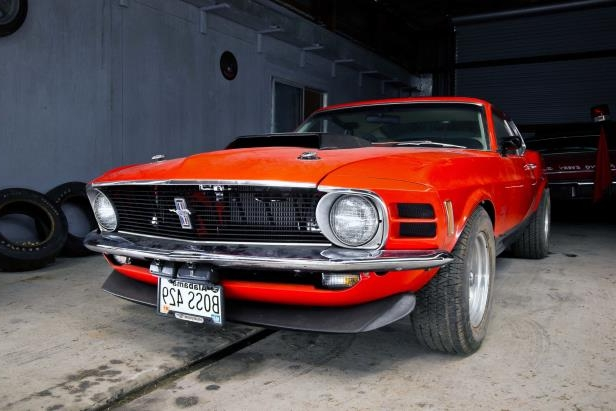 Slide 12 of 53: 003-1970-mustang-boss-429-right-front-low.jpg