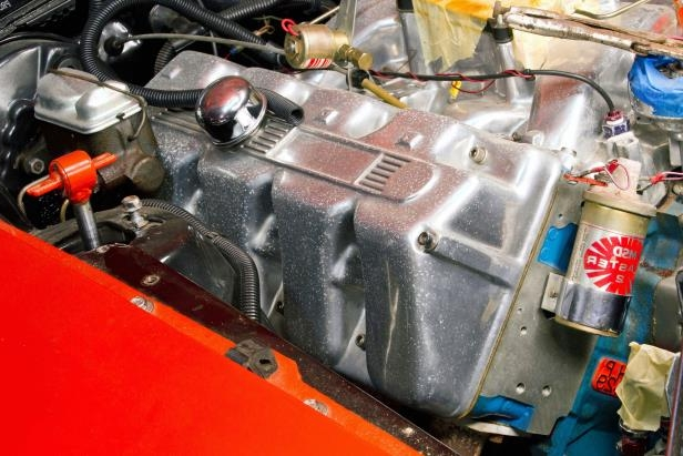 Slide 27 of 53: 036-1970-mustang-boss-429-valve-cover.jpg