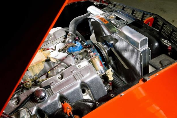 Slide 40 of 53: 023-1970-mustang-boss-429-radiator.jpg