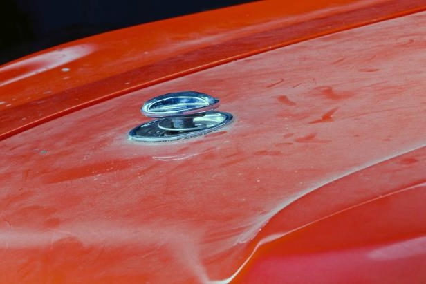 Slide 44 of 53: 017-1970-mustang-boss-429-hood-latch.jpg