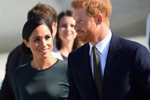 Britain's Prince Harry and Meghan Markle arrive in Dublin for two-day 'mini-moon'