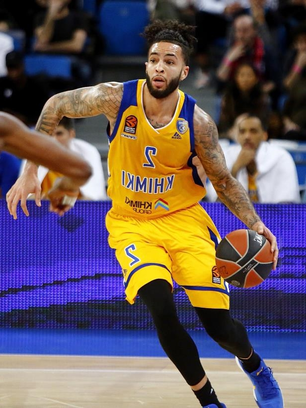 Slide 3 of 63: VITORIA-GASTEIZ, SPAIN - MARCH 01:  Tyler Honeycutt, #2 of Khimki Moscow Region in action during the 2017/2018 Turkish Airlines EuroLeague Regular Season Round 24 game between Baskonia Vitoria Gasteiz and Khimki Moscow Region at Fernando Buesa Arena on March 1, 2018 in Vitoria-Gasteiz, Spain.