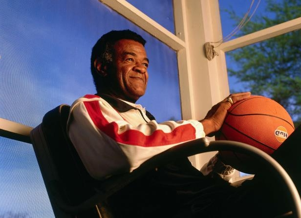 Slide 35 of 63: File Photo: SAN ANTONIO - 1996:  Former NBA great Hal Greer poses for a portrait during the NBA at 50 shoot circa 1996 in San Antonio, Texas.