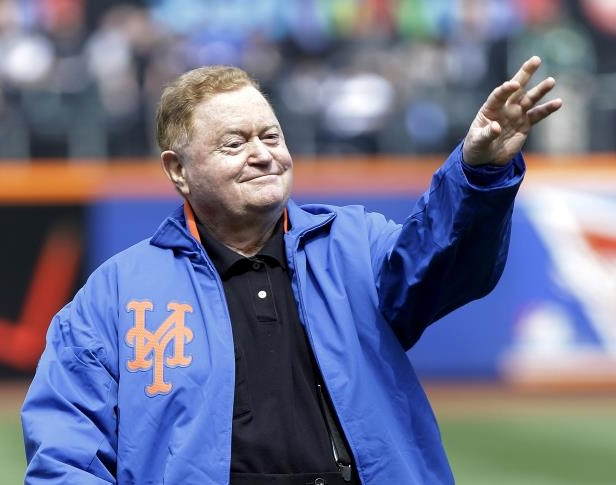 Slide 37 of 63: FILE - In this April 1, 2013, file photo, former New York Mets star Rusty Staub tosses out the ceremonial first pitch before an opening day baseball game the San Diego Padres in New York. The Mets announced Saturday, Oct. 3, 2015, that the former star is recovering in a hospital in Ireland after a heart attack on an overseas flight. (AP Photo/Frank Franklin II, File0