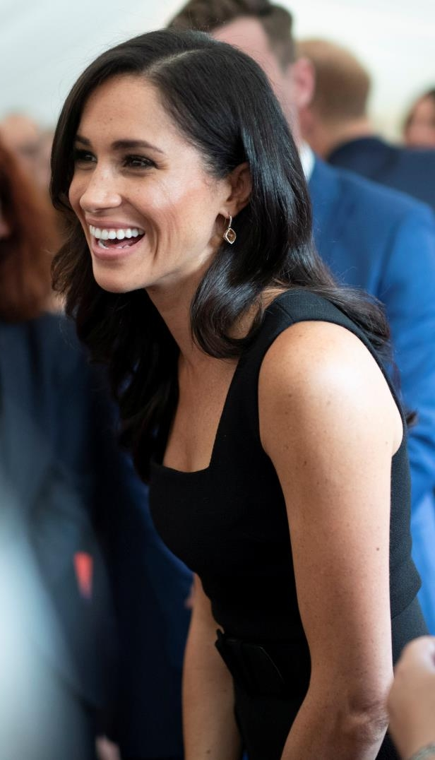 Slide 55 of 75: Britain's Meghan, Duchess of Sussex, attends a reception at Glencairn, the residence of Robin Barnett, the British Ambassador to Ireland at the start of a two-day visit to Dublin, Ireland July 10, 2018. Photo taken on July 10, 2018.  Geoff Pugh/Pool via REUTERS