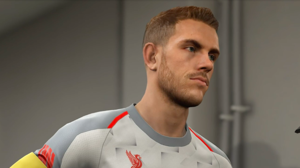 a close up of Jordan Henderson