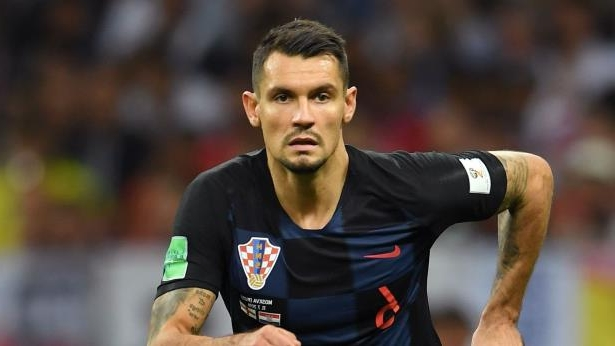 Dejan Lovren - cropped: Dejan Lovren playing for Croatia against England