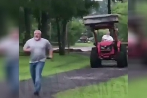 Florida man, 72, tries to mow down neighbor with tractor during dispute, cops say
