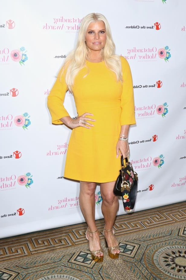 Jessica Simpson attends the Outstanding Mother Awards in New York City on May 11, 2018.