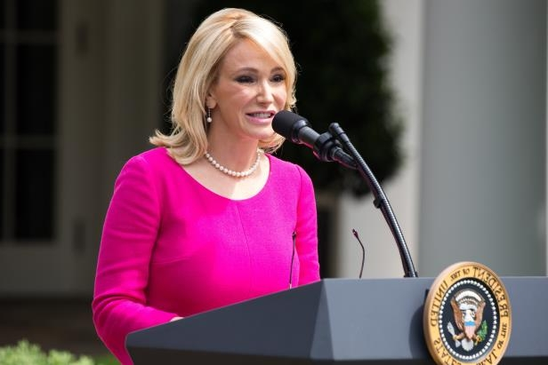Paula White, a spiritual adviser to the president, speaks at the National Day of Prayer ceremony at the White House on May 4, 2017.