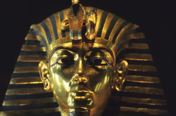 Slide 14 of 18: King Tut funeral mask.