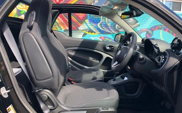 Slide 20 of 40: The 2018 smart EQ fortwo cabrio
