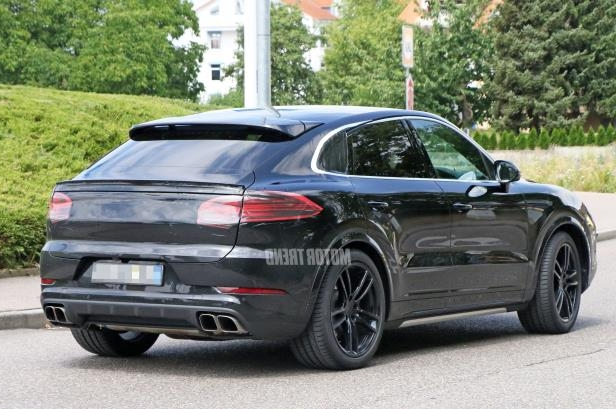 Slide 3 of 15: Porsche-Cayenne-Coupe-mule-rear.jpg