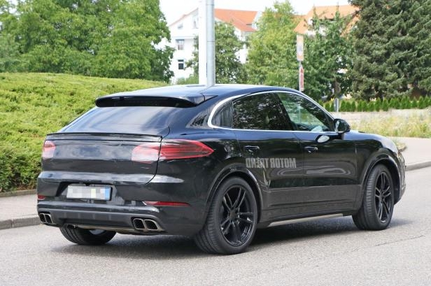 Slide 4 of 15: Porsche-Cayenne-Coupe-rear-three-quarter-mule.jpg