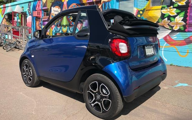 Slide 4 of 40: The 2018 smart EQ fortwo cabrio