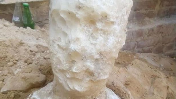 The alabaster head. Pic: Egyptian Antiquities Ministry