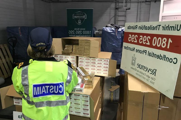 The cigarettes were seized after a container which had arrived from Rotterdam in the Netherlands was checked