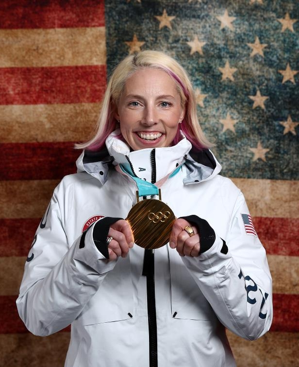 The Today Show Gallery of Olympians, Kikkan Randall, Breast Cancer, OlympicsKikkan Randall poses for a portrait with her gold medal in Gangneung, South Korea.