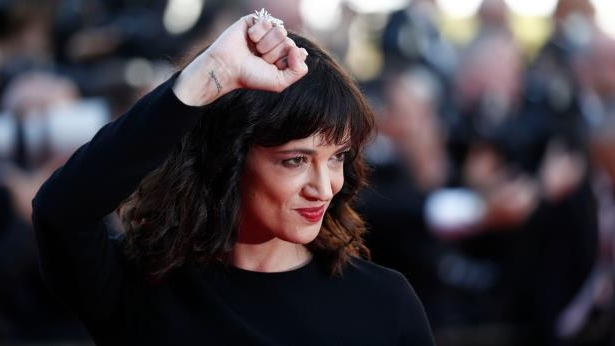a close up of Asia Argento