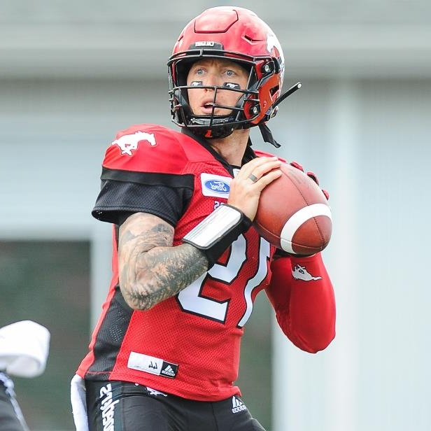 Bo Levi Mitchell of the Calgary Stampeders