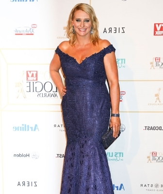 Johanna Griggs in a dress: Johanna Griggs.