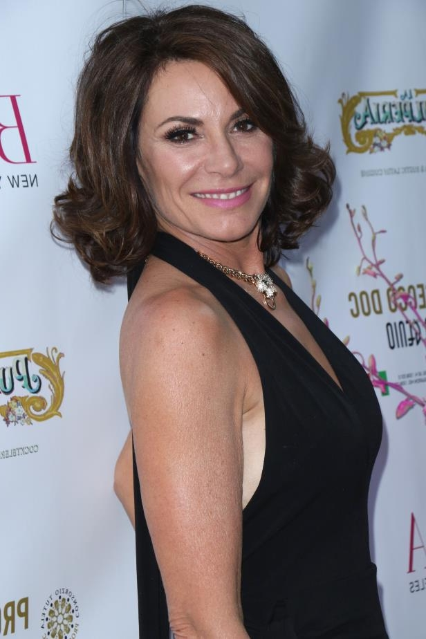 LuAnn de Lesseps posing for a picture: LuAnn de Lesseps attends the Bella Magazine Beauty Issue launch party in New York City on May 29, 2018.