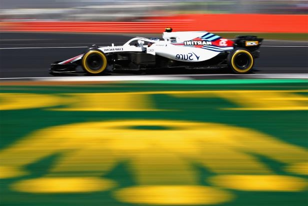 Sergey Sirotkin driving the Williams Mercedes at the British Grand Prix.