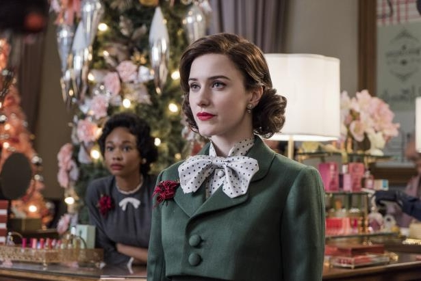 Slide 41 of 363: Rachel Brosnahan and Wakeema Hollis in Season 1 of The Marvelous Mrs. Maisel